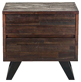 Home Accents 26-Inch Acacia Wood Night Chest, , rollover