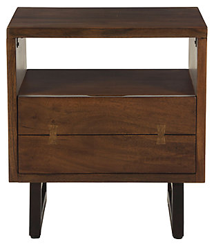 HTD Trends 26-Inch Acacia Wood Live Edge Night Chest, , large