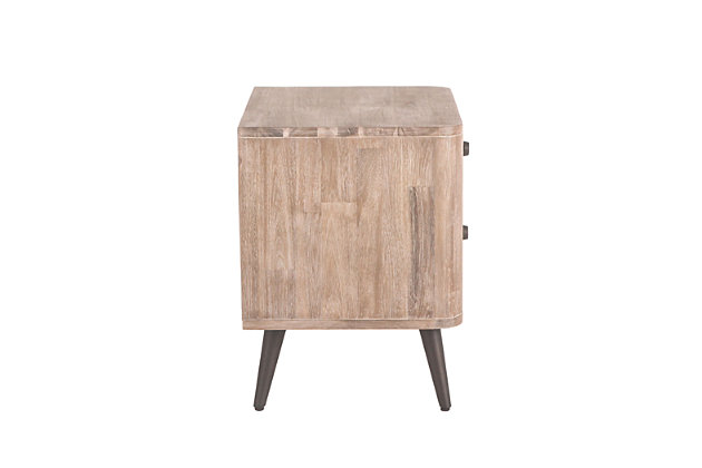 Home Accents 24-Inch Acacia Wood Night Chest, , large