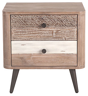 Home Accents 24-Inch Acacia Wood Night Chest, , rollover