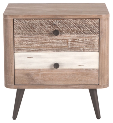 Home Accents 24 Inch Acacia Wood Nightstand Ashley Furniture Homestore