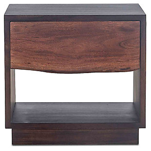 HTD Trends 24-Inch Acacia Wood Live Edge Night Chest, , large