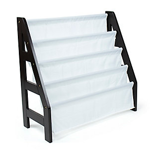 Humble Crew Espresso Kids Ladder Bookshelf 4 Tier Book Organizer, , rollover