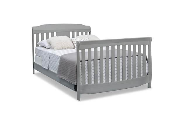 Delta Children Westminster 6-in-1 Convertible Baby Crib, Gray, large