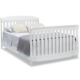 Delta Children Westminster 6-in-1 Convertible Baby Crib, White, large