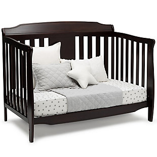 Delta Children Westminster 6-in-1 Convertible Baby Crib, Brown, large