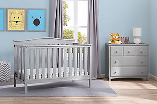 Delta Children Independence 4-in-1 Convertible Crib, Gray, rollover