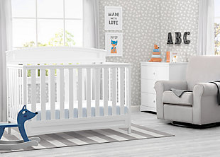 Delta Children Sutton 4-in-1 Convertible Crib, White, rollover