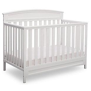 Delta Children Sutton 4-in-1 Convertible Crib, White, large