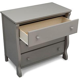 Delta Children Universal 3 Drawer Dresser, Gray, large