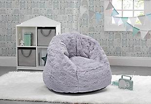 Delta Children Snug Foam Filled Chair, Gray, rollover