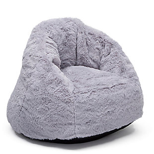 Delta Children Snug Foam Filled Chair, Gray, large