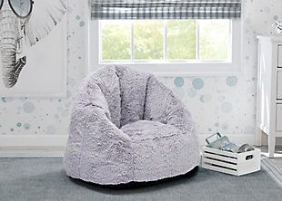 Delta Children Snug Foam Filled Chair, Gray, rollover
