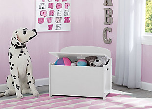 Delta Children MySize Deluxe Toy Box, White, rollover