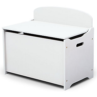Delta Children MySize Deluxe Toy Box, White, large