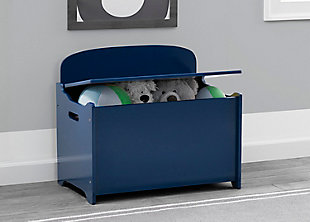 Delta Children MySize Deluxe Toy Box, Blue, rollover