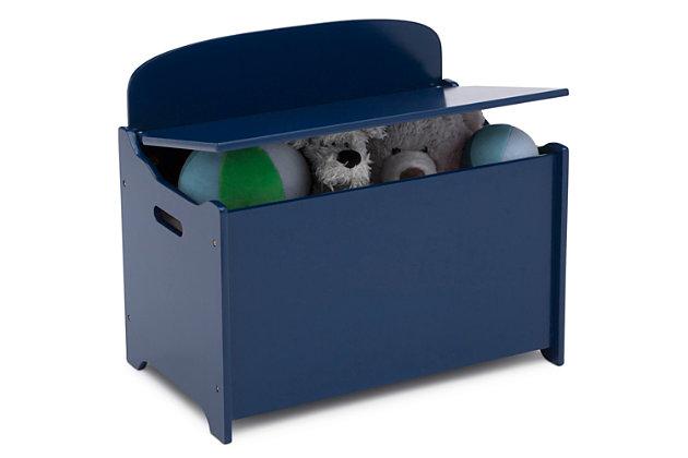 Delta Children MySize Deluxe Toy Box, Blue, large