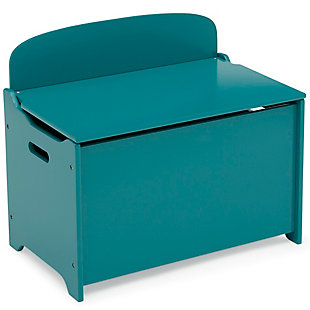 Delta Children MySize Deluxe Toy Box, Teal, large
