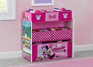 Delta Children Disney Minnie Mouse 6 Bin Design And Store Toy Organizer, , rollover