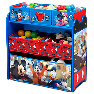 Delta Children Disney Mickey Mouse 6 Bin Design and Store Toy Organizer, , rollover