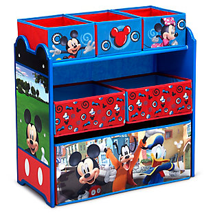 Delta Children Disney Mickey Mouse 6 Bin Design and Store Toy Organizer, , large