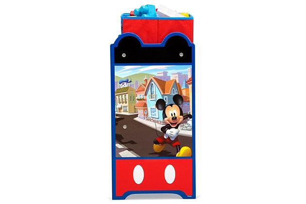 Delta Children Disney Mickey Mouse 6 Bin Design And Store Toy Organizer, , large