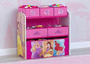 Delta Children Disney Princess 6 Bin Design and Store Toy Organizer, , rollover