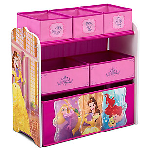 Delta Children Disney Princess 6 Bin Design and Store Toy Organizer, , large
