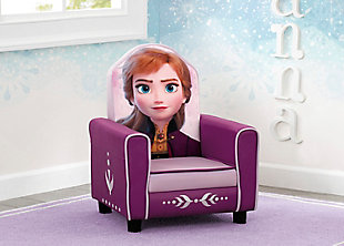Delta Children Disney Frozen II Anna Figural Upholstered Kids Chair, , rollover