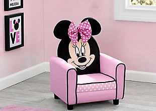 Delta Children Disney Minnie Mouse Figural Upholstered Kids Chair, , rollover