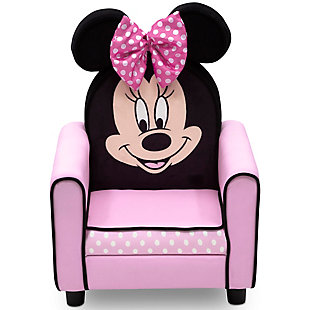 Delta Children Disney Minnie Mouse Figural Upholstered Kids Chair, , large