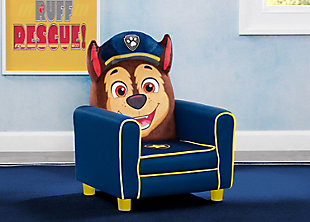 Delta Children Nick Jr. PAW Patrol Chase Figural Upholstered Kids Chair, , rollover
