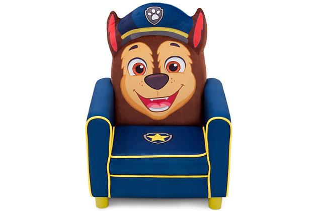 Delta Children Nick Jr. Paw Patrol Chase Figural Upholstered Kids Chair, , large
