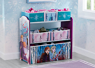 Delta Children Frozen II 6 Bin Design and Store Toy Organizer, , rollover