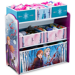 Delta Children Frozen II 6 Bin Design and Store Toy Organizer, , large
