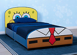 Delta Children SpongeBob SquarePants Upholstered Twin Bed by Delta Children, , rollover