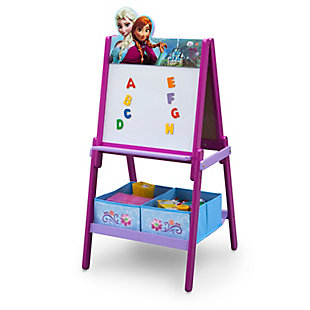 Delta Children Frozen Wooden Double-Sided Kids Easel with Storage by, , rollover
