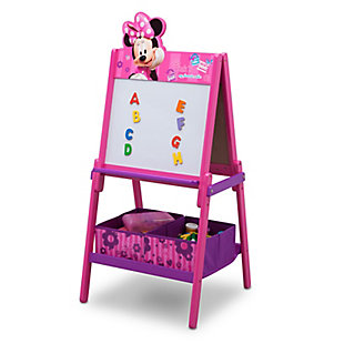 Delta Children Minnie Mouse Wooden Double-Sided Kids Easel with Storage by, , rollover