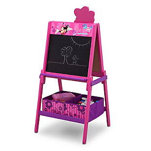 Delta Children Minnie Mouse Wooden Double-Sided Kids Easel with Storage by, , large