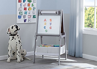 Delta Children MySize Double-Sided Storage Easel, Gray, rollover
