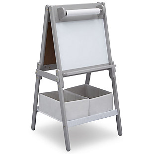 Delta Children MySize Double-Sided Storage Easel, Gray, large