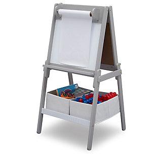 Delta Children Mysize Double-sided Storage Easel, Gray, large