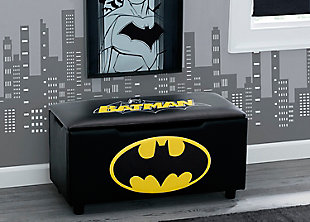 Delta Children DC Comics Batman Upholstered Storage Bench for Kids, , rollover