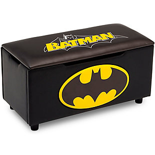 Delta Children DC Comics Batman Upholstered Storage Bench for Kids, , large