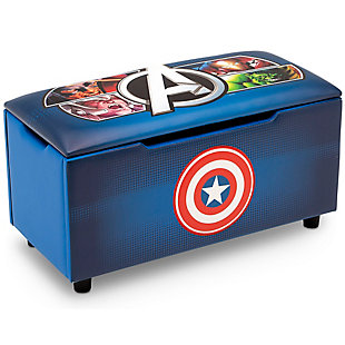 Delta Children Marvel Avengers Upholstered Storage Bench for Kids, , large