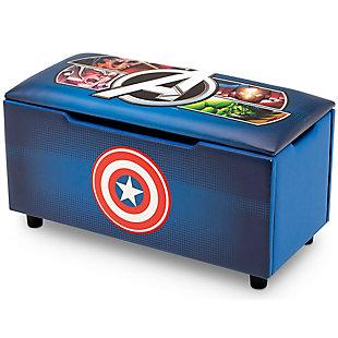 Delta Children Marvel Avengers Upholstered Storage Bench For Kids, , large
