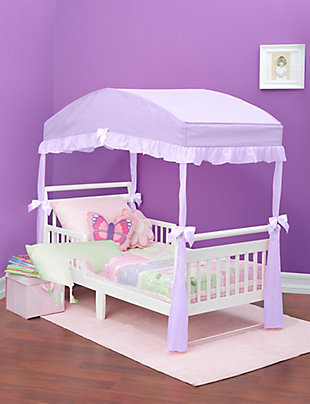Delta Children Toddler Bed Canopy, Purple, large