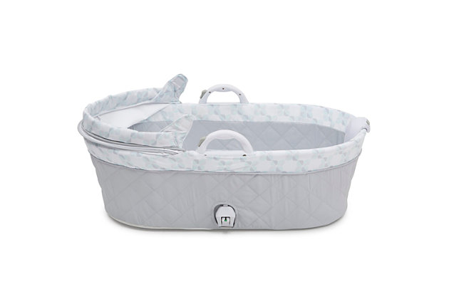 Delta Children Deluxe Moses Bassinet, White, large