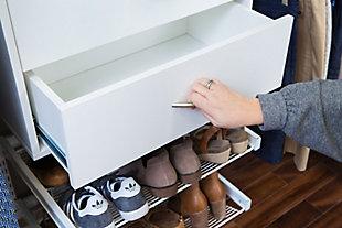 """Organized Living freedomRail® Ultimate Adjustable Closet Kit, 48""""-52"""", White, large"""
