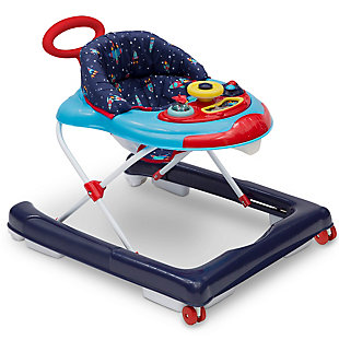 Delta Children First Exploration 2-in-1 Activity Walker, Blue, large